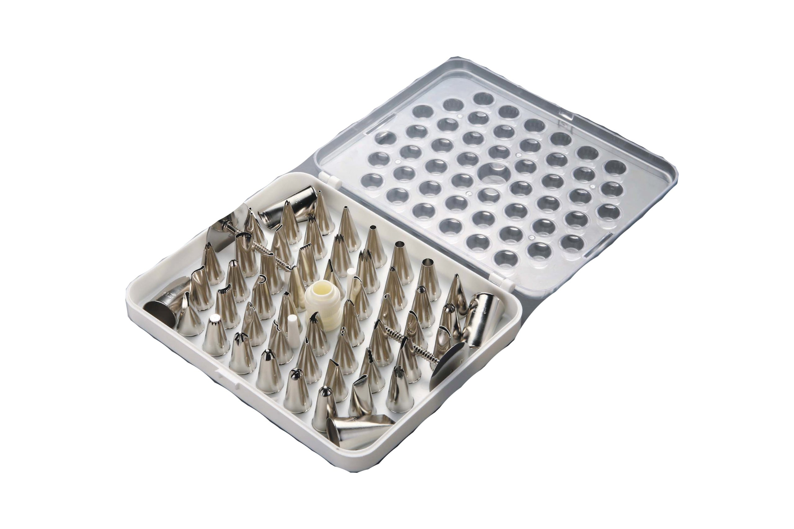 Paderno World Cuisine Set of 55 Stainless Steel Pastry Tips