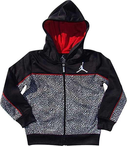 5d1af478175c Amazon.com  Nike Jordan Big Boys 8-20 Therma-fit Camo Elephant Print Full  zip Hoodie Jacket (M 10-12)  Clothing