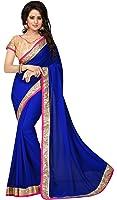 Elégant Border Golden Sequin Bollywood Saree Designer ethnique robe de soirée indienne