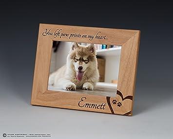 Amazoncom Dog Memorial Engraved Pet Frame Personalized Dog Frame