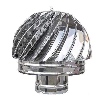 "Chimenea Giratoria para estufa 120mm, Material ""INOX"", Sombrero de chimenea,"
