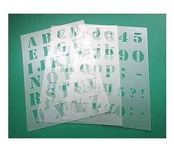 HBM-SCHABLONENSHOP 3er Schablonen Set 0005 Druck - Buchstaben groß ...