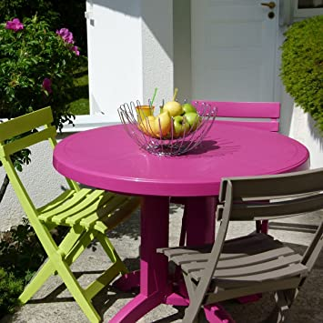 GROSFILLEX - Table ronde de jardin Vega: Amazon.fr: Jardin