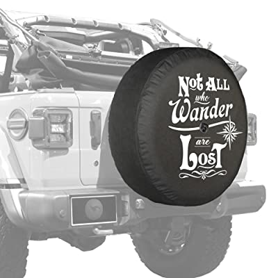"Boomerang - 32"" Soft JL Tire Cover for Jeep Wrangler JL (with Back-up Camera) - Sport & Sahara (2020-2020) - Not All Who Wander are Lost: Automotive"