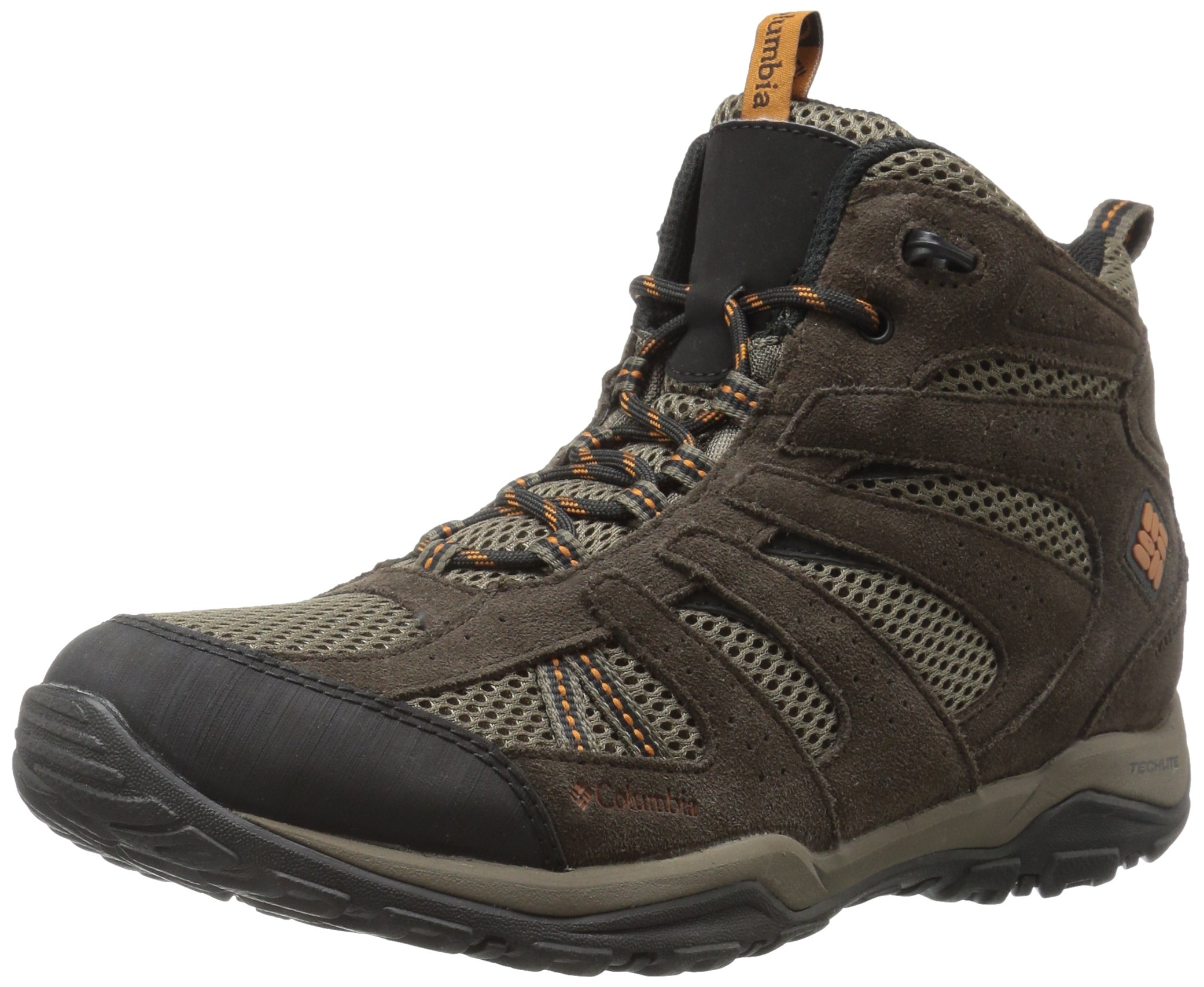 Columbia Men's North Plains Drifter Mid Waterproof Hiking Boot, Mud, Bright Copper, 11.5 D US