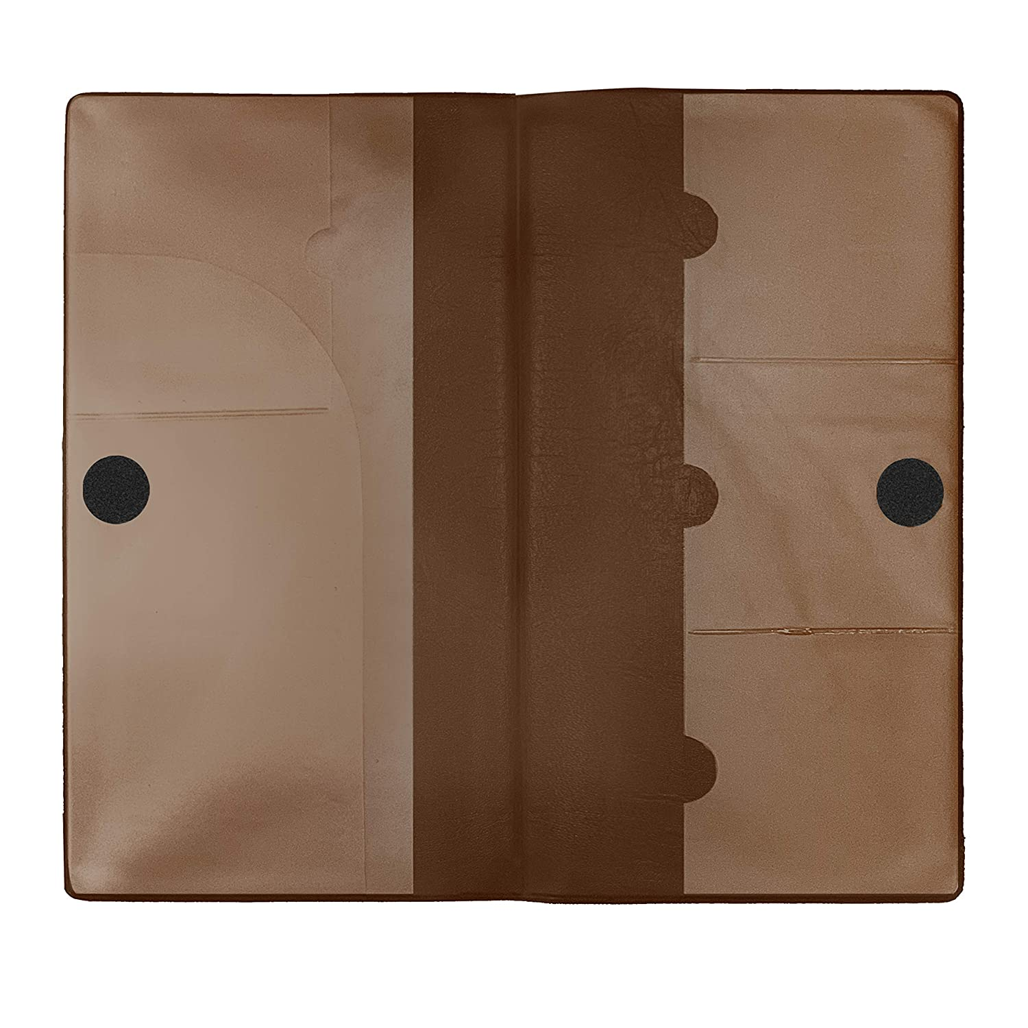 Deluxe Car Insurance and Registration Card Holder Premium Quality Automobile Essential Documents Wallet Brown