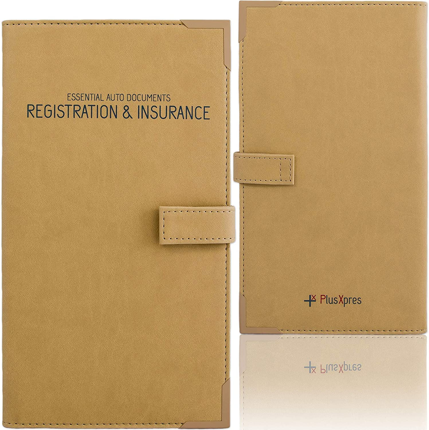 PlusXpres Auto Document Holder Organizer