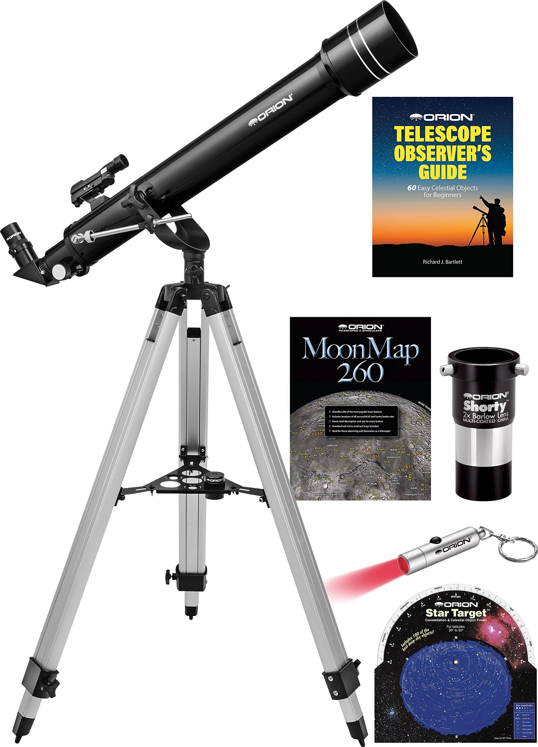 Orion Observer II 70mm Altazimuth Refractor Telescope Kit by Orion
