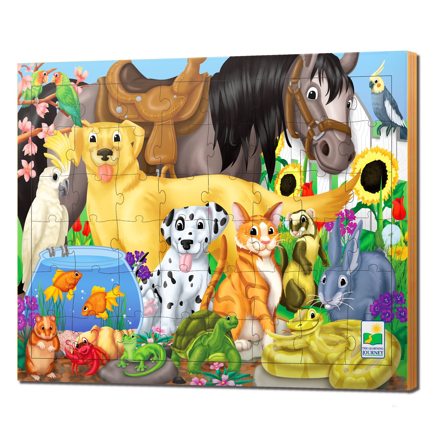amazon com the learning journey 48pc lift u0026 discover jigsaw