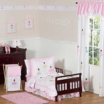 sweet jojo designs 5 piece ballet dancer ballerina toddler girl bedding set - Toddler Girl Bedding
