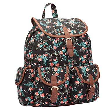 15 COLOURS Canvas Backpack Rucksack - Girls Ladies Womens Daypack Bags - 20  Litre Medium School 9bb1e2546c