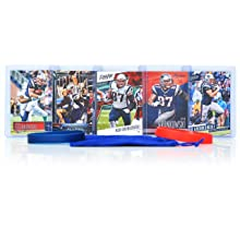 Rob Gronkowski (5) Assorted Football Cards Bundle - New England Patriots Trading Cards