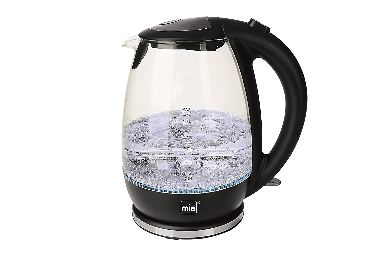Wasserkocher Mia Edelstahl Teekocher 1,5L 2200W Abschaltautomatik Kabellos