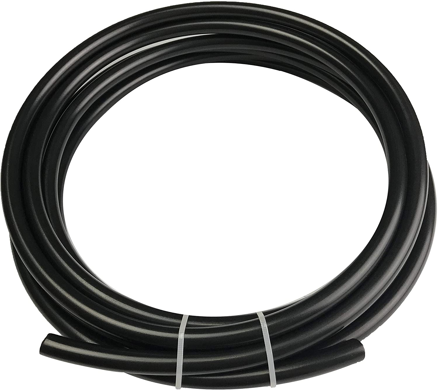 Nylone Tubing Fuel Line 3/16 OD Hose Vacuum Tube 1/8 ID Pneumatic Pipe Black for Air Brake System Or Fluid Transfer, Black 10 feet