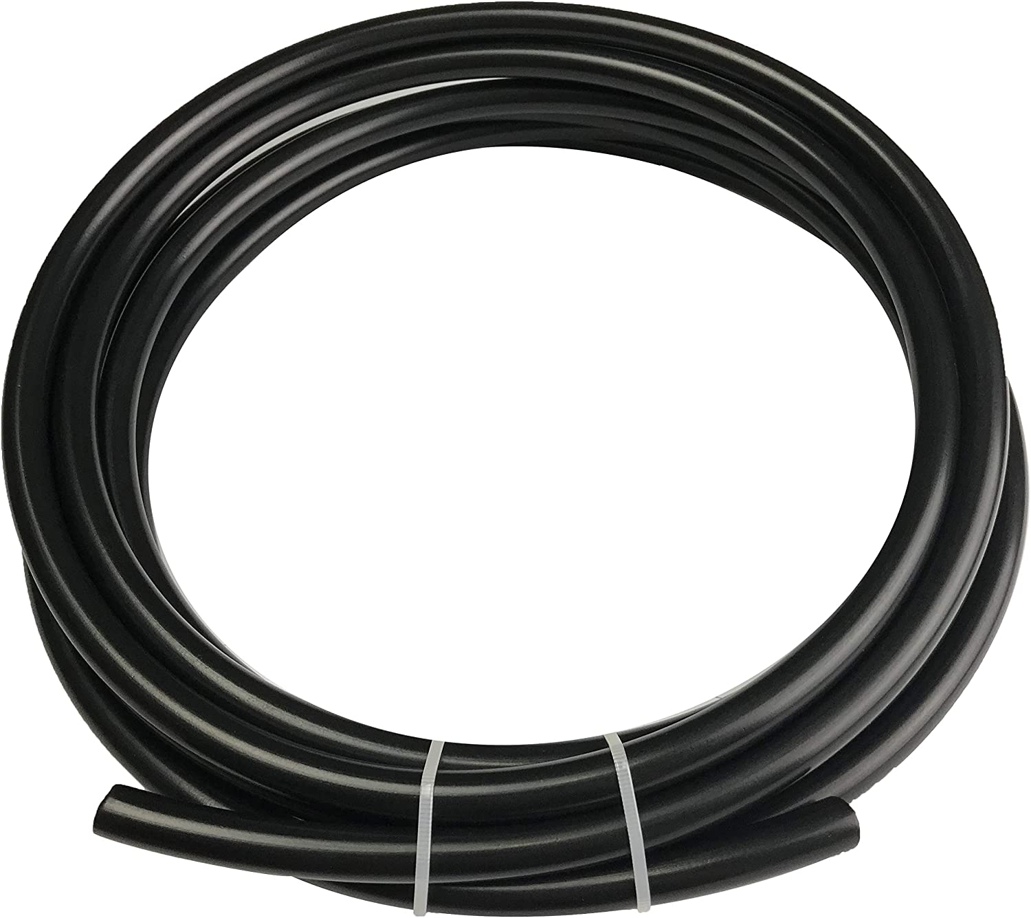 Fuel Line Nylon Tubing 5/16 ID Hose 3/8 OD Pneumatic Tube for for Air Brake System Or Fluid Transfer Black, 10 feet