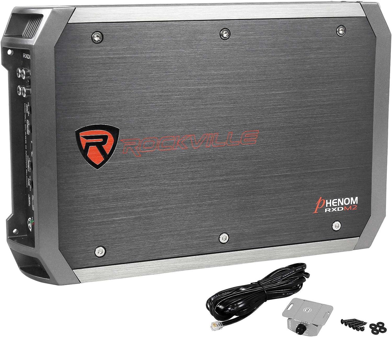 Rockville RXD-M2 3000 Watt//1500w RMS Mono Class D 1 Ohm Amplifier Car Stereo Amp