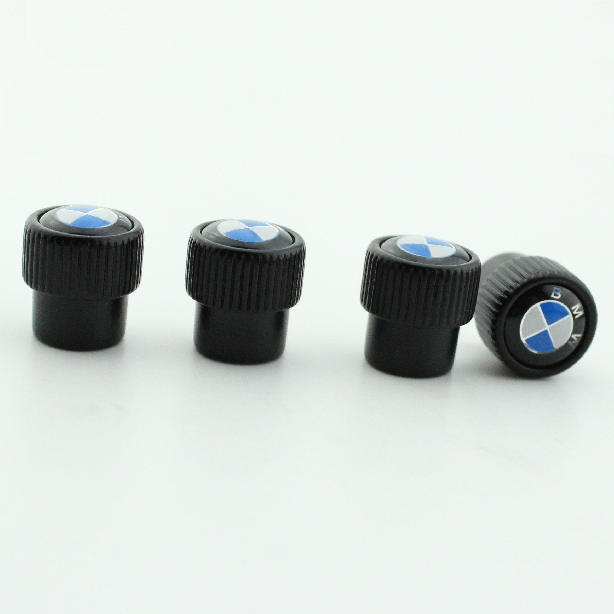 MirosCar Valve Stem Caps Zinc Alloy Plating Chrome Tire Valve Stem Valve Caps For BMW (Set of 4)