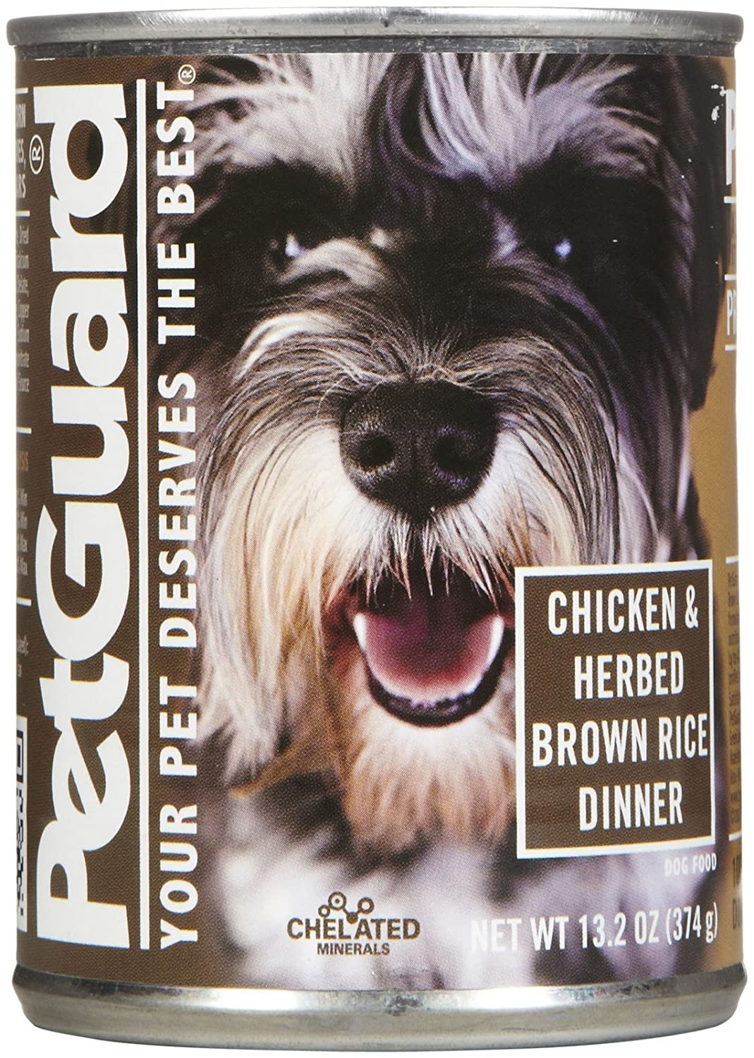 PetGuard Chicken and Herbed Brown Rice Dog Food, 14-Ounce Pack of 12