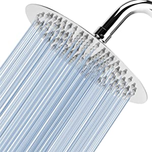 """Voolan 8"""" High Pressure Rain Shower Head, 304 Stainless Steel, Comfortable Shower Experience Even at Low Water Flow"""