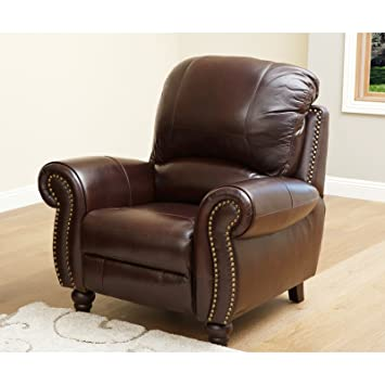 Premium Grade Leather Pushback Recliner Chair for the Living Room. The Best in Recliners Furniture  sc 1 st  Amazon.com & Amazon.com: Premium Grade Leather Pushback Recliner Chair for the ... islam-shia.org