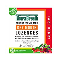TheraBreath Dry Mouth Lozenges with ZINC, Tart Berry Flavor, 24 Lozenges