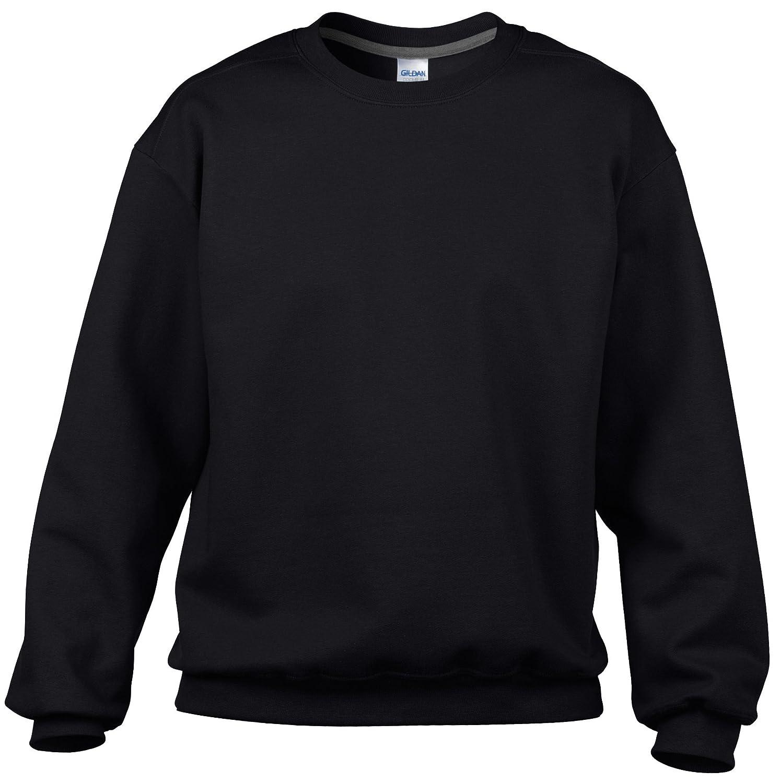 Premium cotton crew neck sweatshirt Black, S