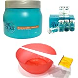 L'Oreal Hair Spa Set Of 9 (Deep Nourishing Mask Purifying Ampoules Mixing Bowl Dye Brush) With Ayur Product In Combo