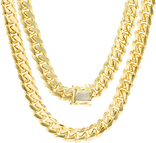 """Mens 14k Gold Plated Made In Italy 4mm Stainless Steel Rope Chain 22/"""" Quality"""
