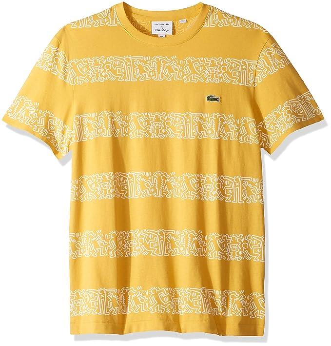 e207e08e Lacoste Mens S/S Printed Stripes Jersey T-Shirt T-Shirt: Amazon.ca ...