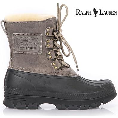 Ralph Lauren RL Landen Stivali Uomo 812127151029 Nero, Nero