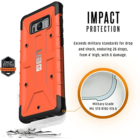UAG Samsung Galaxy S8+ [6 2-inch screen] Pathfinder Feather-Light Rugged  [RUST] Military Drop Tested Phone Case