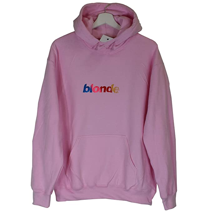 a546a12e2c79 Actual Fact Frank Ocean Blonde Nascar Stripe Embroidered Hip Hop Odd Future  Pink Hoodie Hooded Top  Amazon.co.uk  Clothing