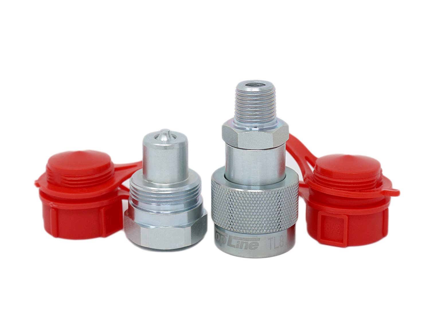 TL81 3/8' NPT 10, 000 PSI High Pressure Enerpac Interchange Hydraulic Couplers Coupling Set 3/8' Body w/Dust Caps 000 PSI High Pressure Enerpac Interchange Hydraulic Couplers Coupling Set 3/8 Body w/Dust Caps TopLine