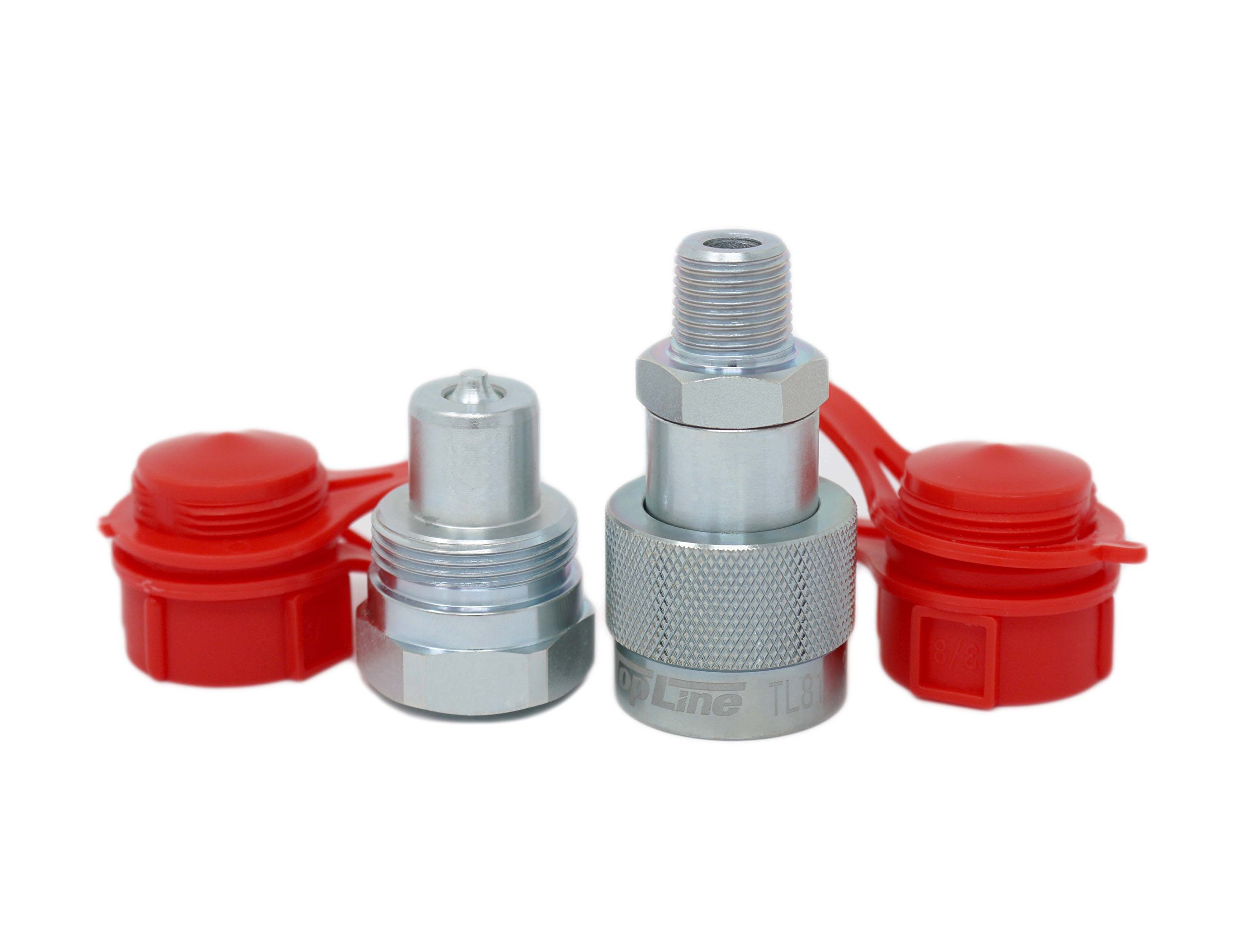TL81 3/8'' NPT 10,000 PSI High Pressure Enerpac Interchange Hydraulic Couplers Coupling Set 3/8'' Body w/Dust Caps