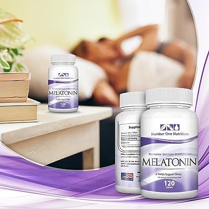 Amazon.com: Number One Nutrition Melatonin 3mg, Natural Sleep Aid, 120 Tablets: Health & Personal Care