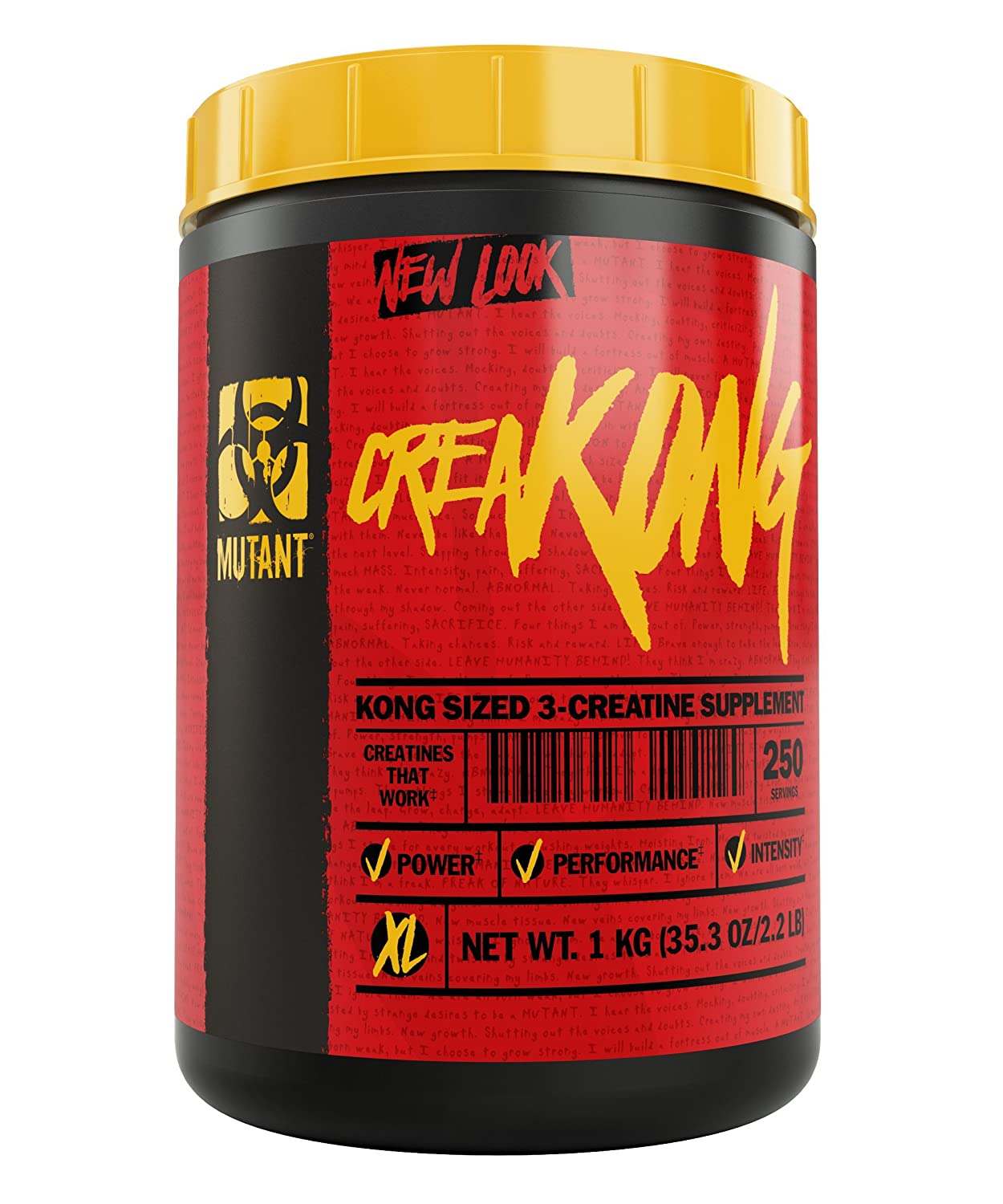 Mutant Creakong Creatine Supplement and Workout Boost Absorption Accelerator with No Fillers 2.2 lbs