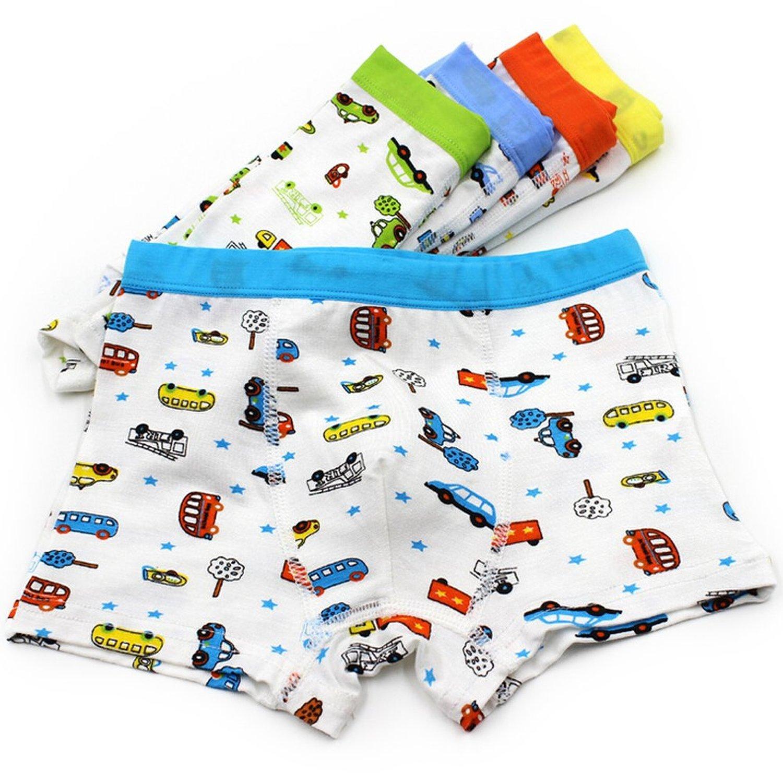 Bala Bala Boy's Boxer Brief Multicolor Underwear (Pack Of 5) (M/Car Underwear, (Pack Of 5)/Car Underwear) by Bala Bala (Image #2)