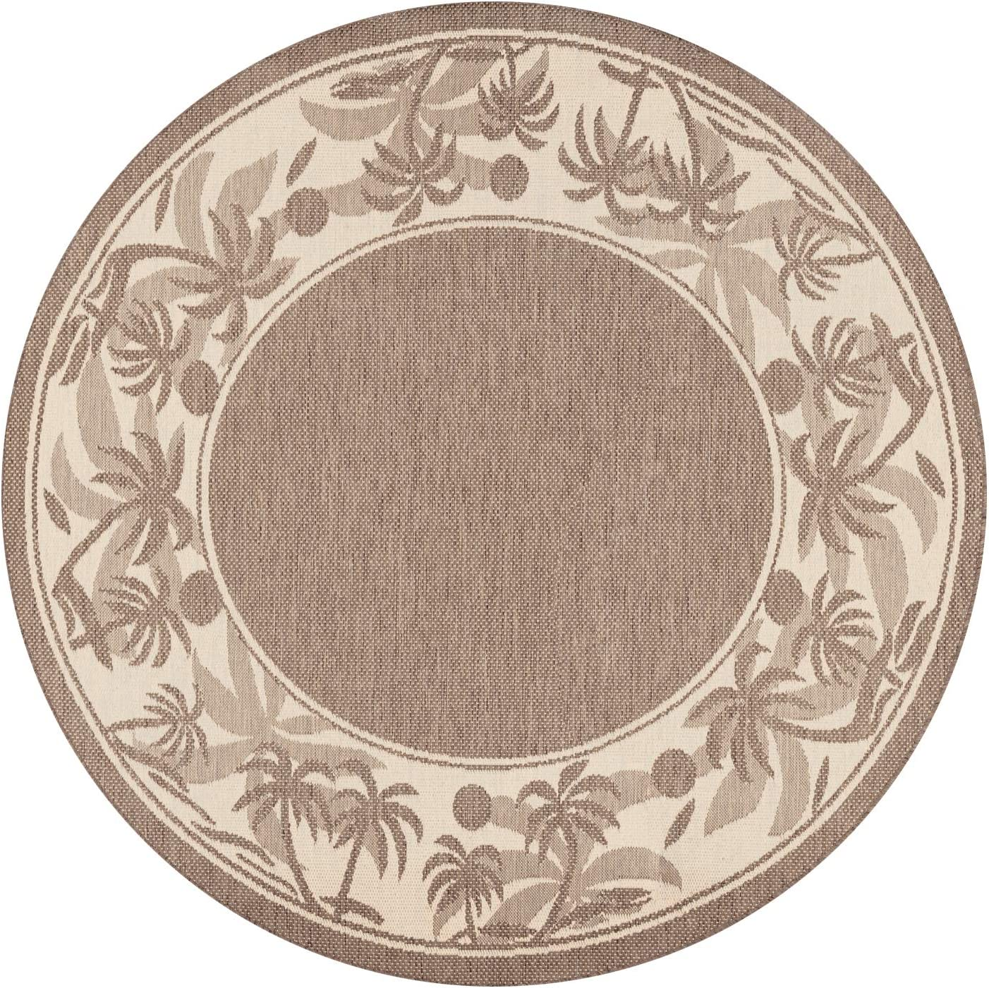 Couristan 1222 0722 Recife Island Retreat Beige Natural Rug, 7-Feet 6-Inch Round