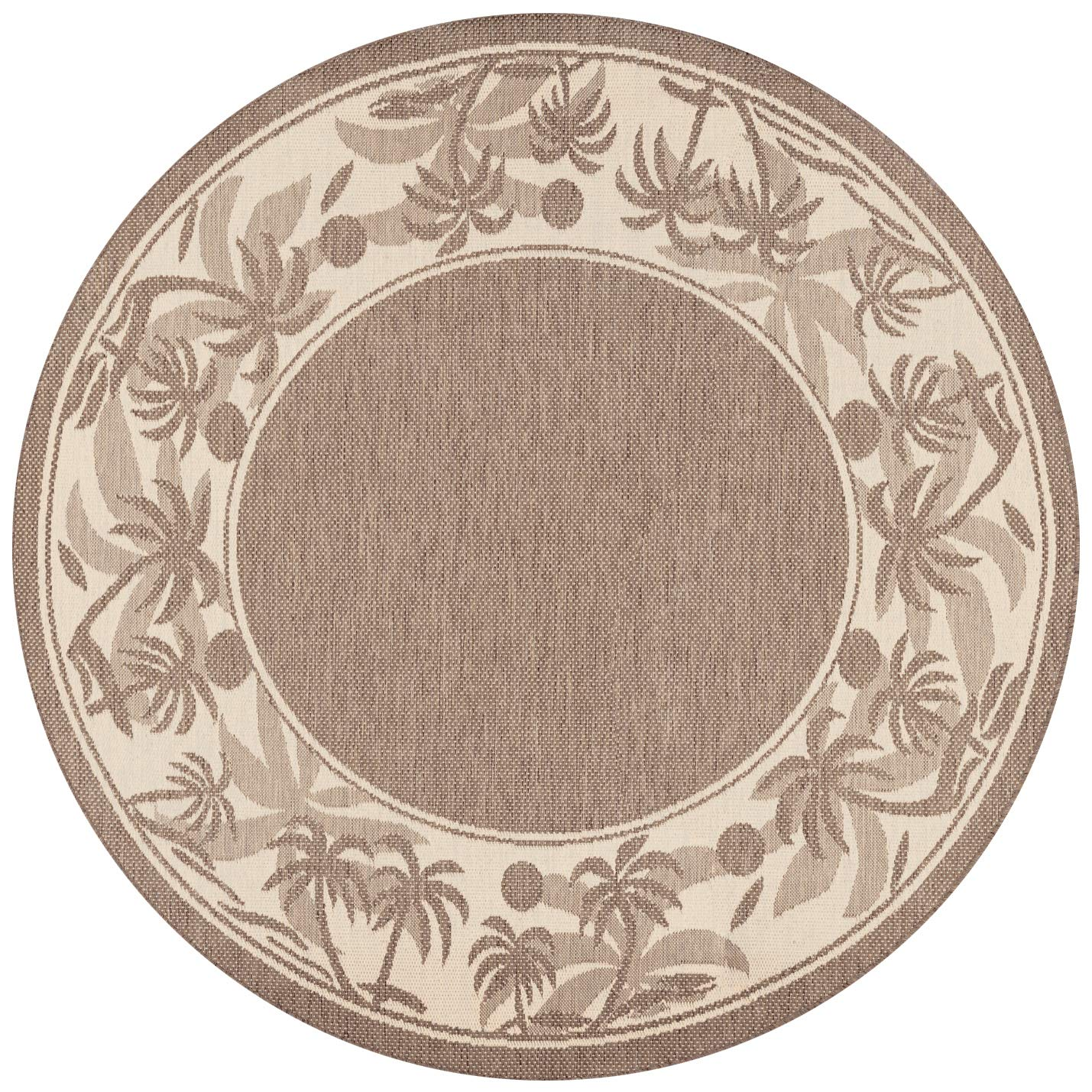 Couristan 1222 0722 Recife Island Retreat Beige Natural Rug, 8-Feet 6-Inch Round
