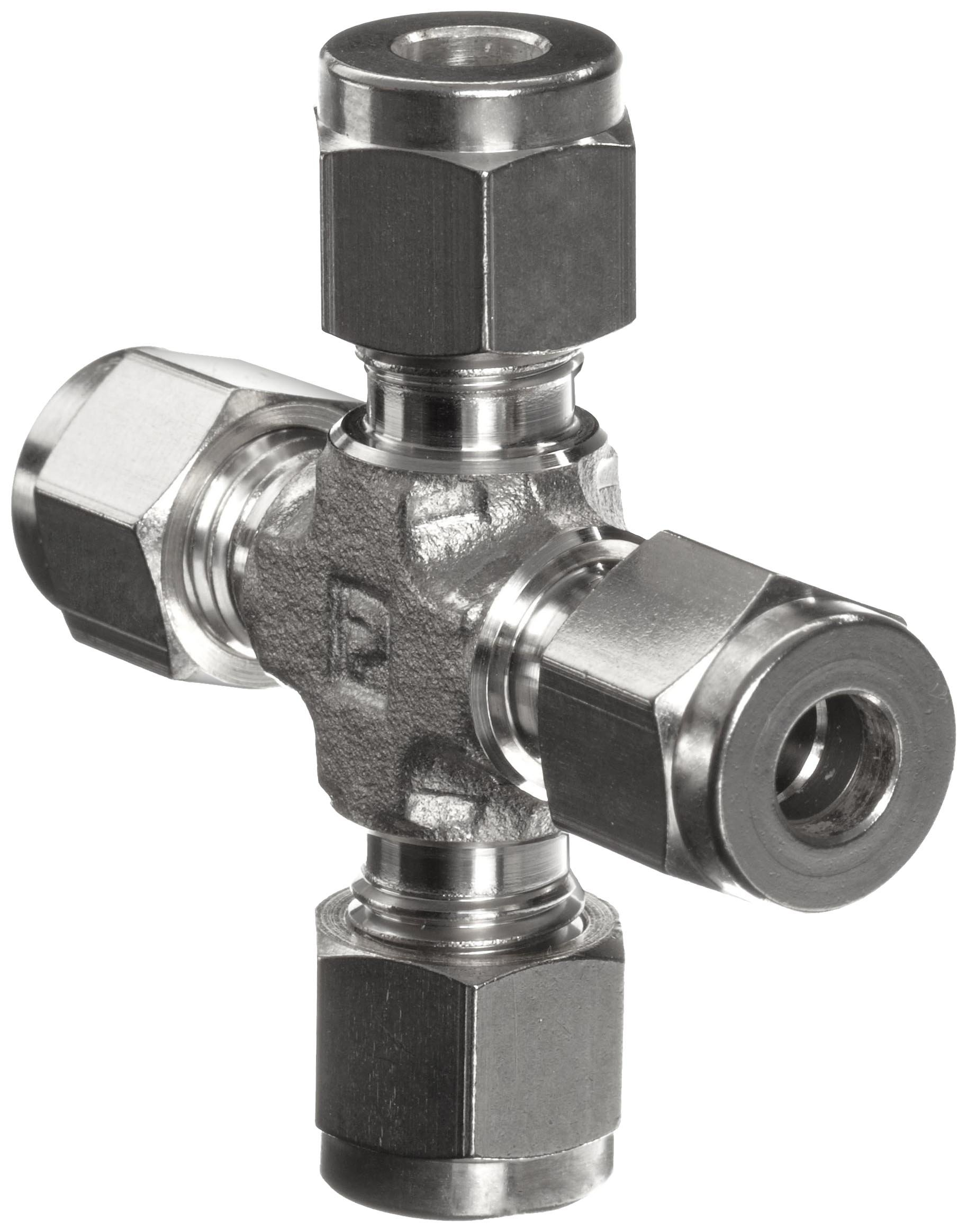 Parker A-Lok 2ECR2-316 316 Stainless Steel Compression Tube Fitting, Cross, 1/8'' Tube OD