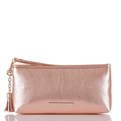 buying now soft and light diversified latest designs Brahmin Kayla Metallic Pebble leather Wristlet Clutch Rose Gold Moonlit