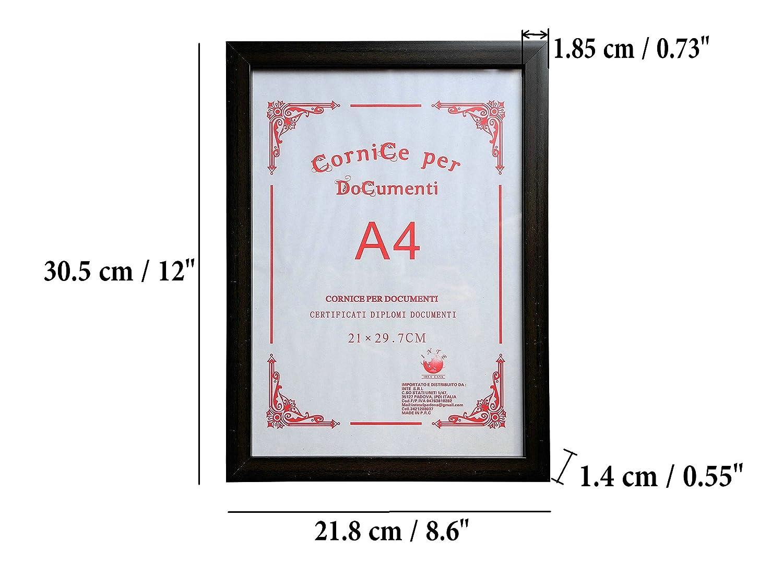 GUTEINTE A4 Zertifikat Fotorahmen Wand Dokumentenrahmen 21 x 29,7 cm 2 St/ück Bordeaux