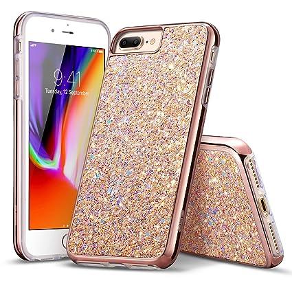 iphone 8 plus case gold glitter