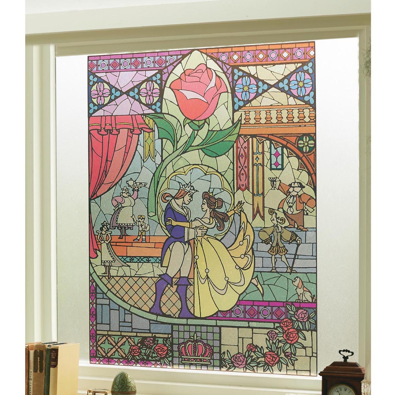 Amazon Disney ディズニー ステンドグラス風窓飾りシート ベル