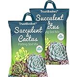 TrustBasket Succulent and Cactus Potting Soil Mix - 10 KG