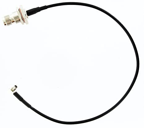 MPD Digital TS9(RA)-TNCf-12in TS-9 Right Angle to TNC Female Bulkhead 3G 4G GMS Satellite Adapter Pigtail | TS9 Cnt100/LMR100 Dual Shielded Coaxial ...