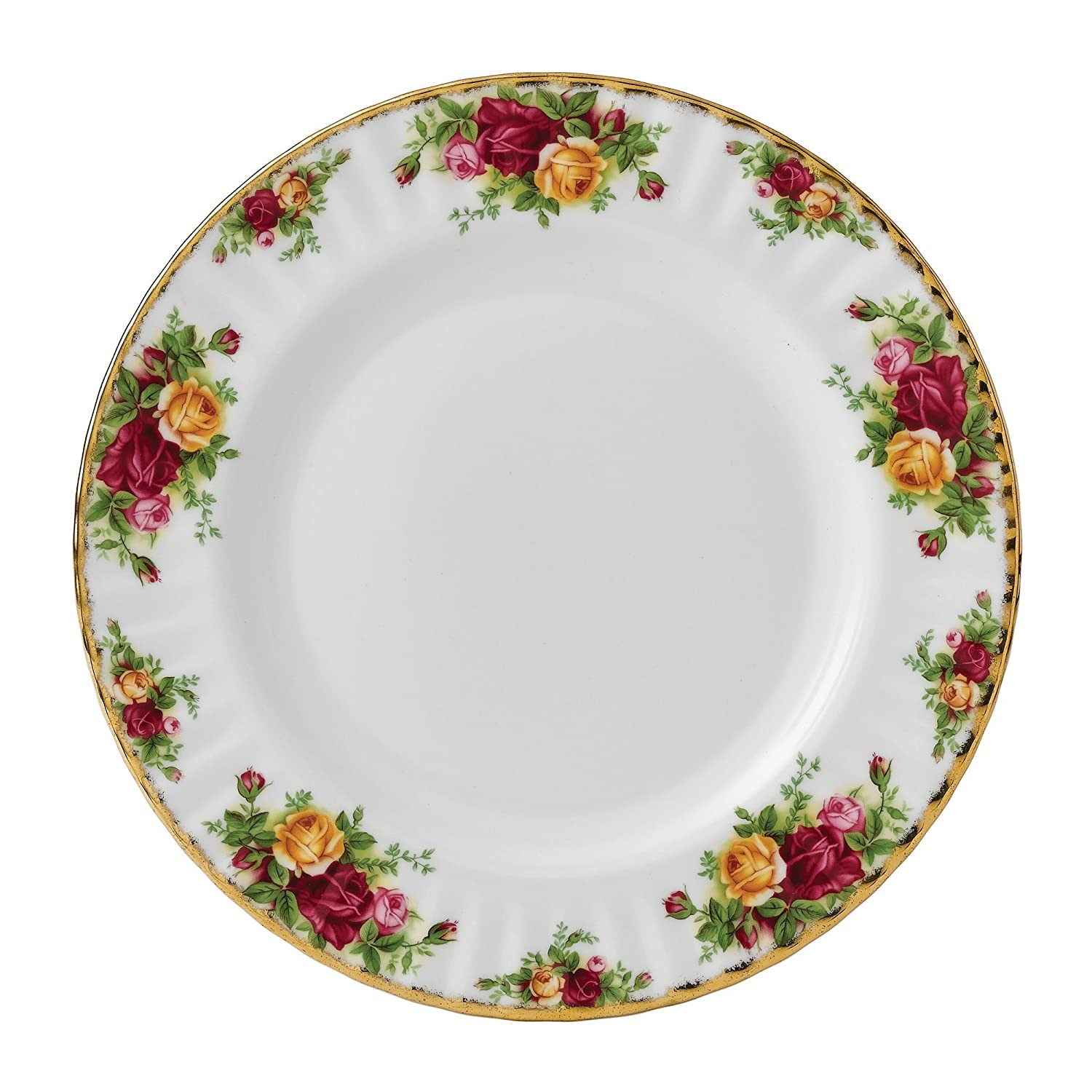 Amazon.com | Royal Albert 15210006 Old Country Roses Dinner Plate ...