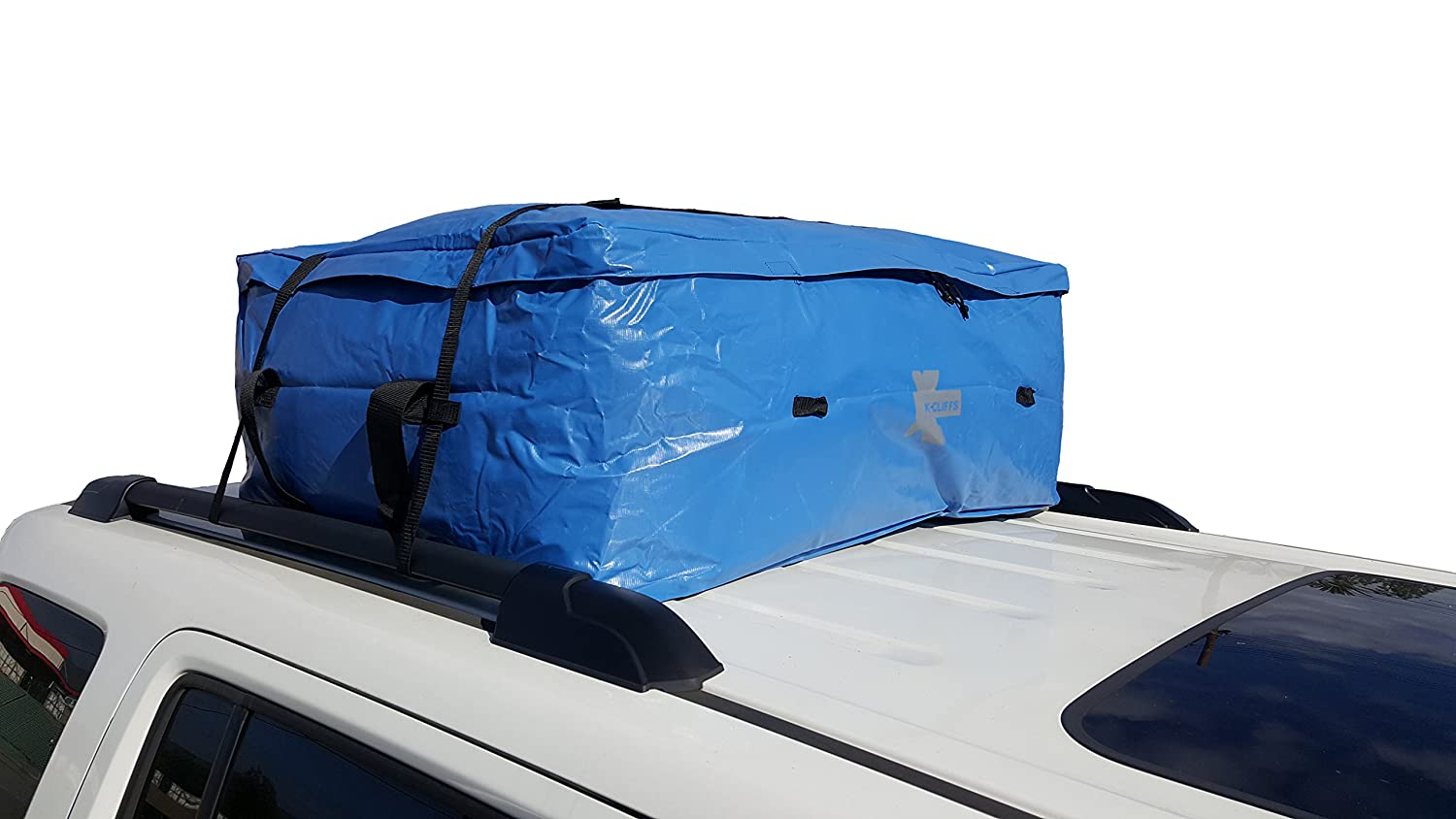 K-Cliffs Waterproof Roof Cargo Bag | Fits All Hard-top Cars | Blue (Medium) RT119.M.Blue