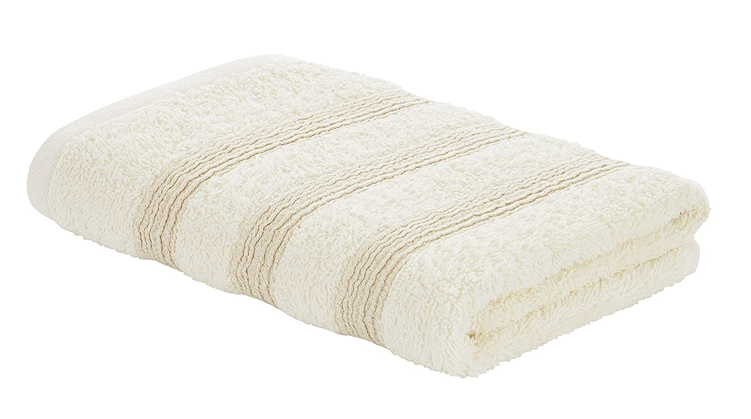 Catherine Lansfield Lurex Bands Hand Towel, Cream/Gold Turner Bianca TW/43365/W/HT/CGO