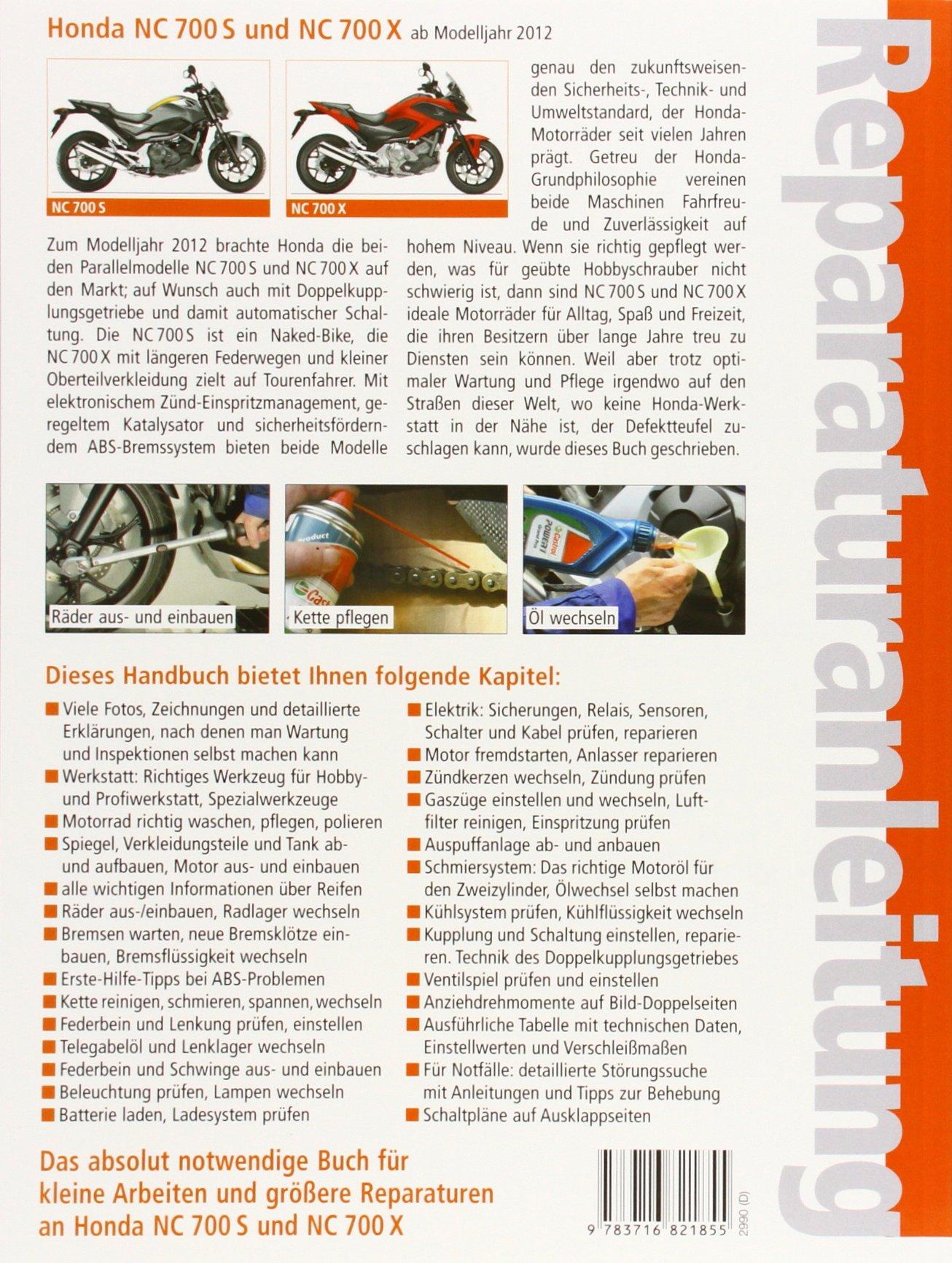 Honda NC 700 S und NC 700 X ab Modelljahr 2012 Reparaturanleitungen ...